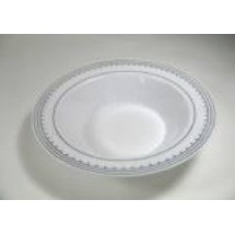 EZWare 6059 Princess Premium Plastic Bowl with Silver Rim 12 oz. - 10 packs
