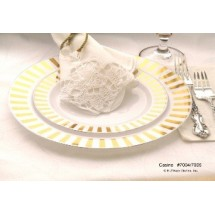 EZWare-6068-Casino-Premium-Plastic-Dinner-Plate-with-Gold-Rim-10-5----10-packs