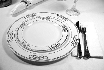 EZWare 6072 Ribbons Premium Plastic Dinner Plate with Silver Rim 10.5 : black disposable dinner plates - pezcame.com