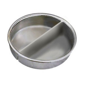 Eastern Tabletop 1510 Divided Chafing Dish Inset Food Pan 8 Qt.