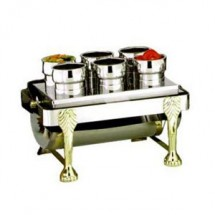 Eastern Tabletop 2106 Silver Sauce Station with Condiment Inset