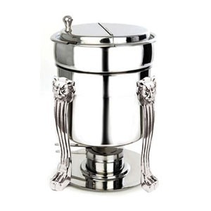 Eastern Tabletop 2107LH Silverplated Marmite Soup Stand 7 Qt.