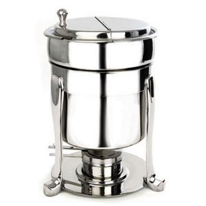Eastern Tabletop 2107PL Pillard Silverplated Marmite Soup Chafer 7 Qt.