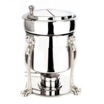 Eastern Tabletop 2107QA Queen Anne Silverplated Marmite Soup Chafer 7 Qt.