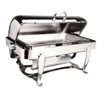 Eastern Tabletop 2114 Park Avenue Silverplated Rectangular Rolltop Chafer 8 Qt.