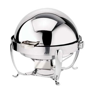 Eastern Tabletop 2118 Park Ave. Silverplated Rolltop Chafer 8 Qt.