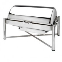 Eastern Tabletop 2124 Pillard Silverplated Rolltop Chafer 8 Qt.