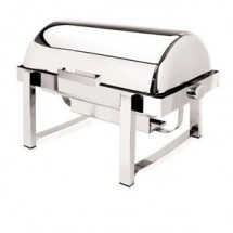 Eastern Tabletop 2144 P2 Silverplated Rolltop Chafer 8 Qt.