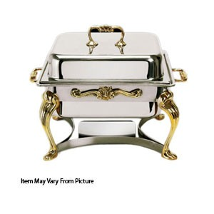 Eastern Tabletop 2202QA Queen Anne Silverplated Lift-Off Chafer 4 Qt.