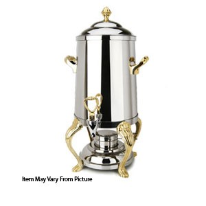 Eastern Tabletop 2203QA Queen Anne Silverplated Hotel Grade Coffee Urn 3 Gallon