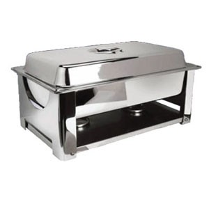 Eastern Tabletop 22201 Collapsible Rectangular Lift-Off Chafer 8 Qt.