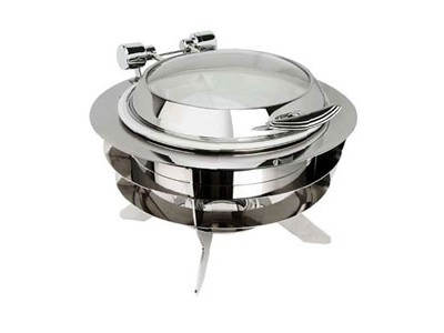 Eastern Tabletop 22308-L Luminous Silverplated Round Chafer 6 Qt.