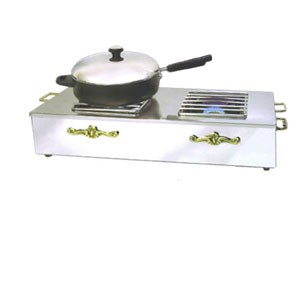 Eastern Tabletop 2267G Silverplated Double Butane Stove Cover Up