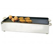 Eastern Tabletop 2268NS Double Butane Stove Cover Up Griddle Top, Silverplated