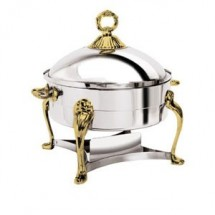 Eastern Tabletop 2280QA Queen Anne Silverplated Round Liftoff Chafer 8 Qt.