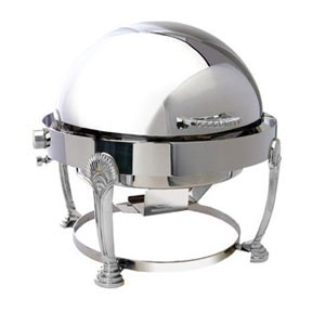 Eastern Tabletop 2408SD Seashell Silverplated Round Chafer 8 Qt.
