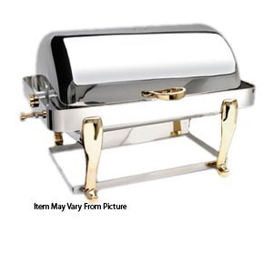 Eastern Tabletop 2604FS Freedom Silverplated Rectangular Rolltop Chafer 8 Qt.
