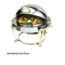 Eastern Tabletop 2610FS Freedom Silverplated Round Rolltop Chafer 4 Qt.