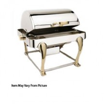 Eastern Tabletop 2614FS Freedom Silverplated Petite Rectangular Rolltop Chafer Food Pan 4 Qt.
