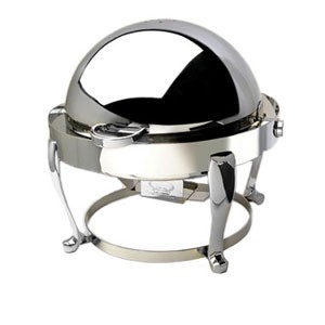 Eastern Tabletop 2615FS Freedom Silverplated Round Rolltop Chafer 6 Qt.