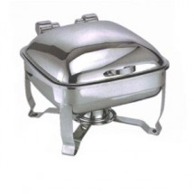 Eastern Tabletop 2904-S Silverplated Tabletop Induction Chafer with Stand 6 Qt.
