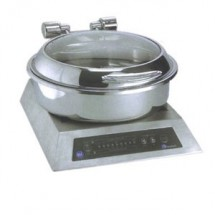 Eastern Tabletop 2908-G Silverplated Round Induction Chafer 6 Qt.