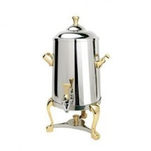Eastern Tabletop 3001FS Freedom Insulated Stainless Steel Coffee Urn with Brass Accents 1-1/2 Gallon