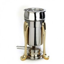 Eastern Tabletop 3101PL Marmite Soup Chafer with Brass accents 2 Qt.