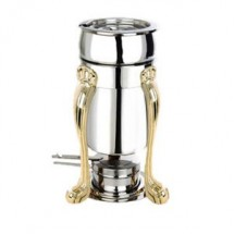 Eastern Tabletop 3101QA Marmite Soup Chafer with Stand and Brass Accents 2 Qt.