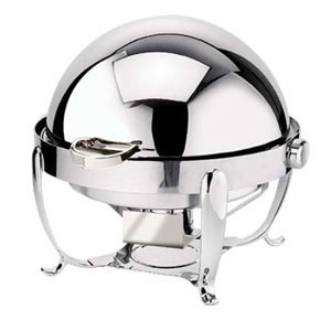 Eastern Tabletop 3118 Park Avenue Stainless Steel Round Chafer 8 Qt.