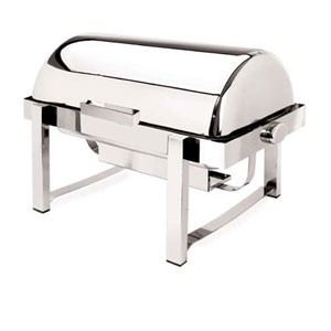 Eastern Tabletop 3144 P2 Pillar'd Rectangular Chafer 8 Qt.