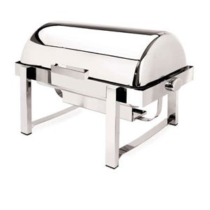 Eastern Tabletop 3144 P2 Stainless Steel Rolltop Rectangular Chafer 8 Qt.