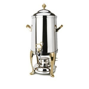 Eastern Tabletop 3201FS Freedom Stainless Steel Coffee Urn with Brass Accents 1-1/2 Gallon