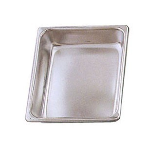 Eastern Tabletop 3202FP Stainless Steel Half Size Chafer Food Pan 4 Qt.