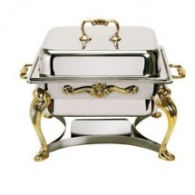 Eastern Tabletop 3202QA Queen Anne Square Lift-Off Chafer 4 Qt.