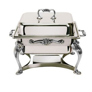 Eastern Tabletop 3202QA-SS Queen Anne Square Lift-Off Chafer 4 Qt.
