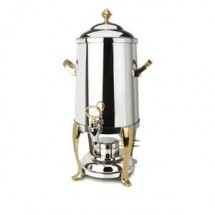 Eastern Tabletop 3205FS Freedom Stainless Steel Coffee Urn with Brass Accents 5 Gallon