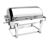Eastern Tabletop 3604FS-SS Freedom Rectangular Stainless Steel Rolltop Chafer 8 Qt.