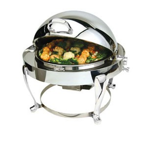 Eastern Tabletop 3610FS-SS Freedom Round Rolltop Chafer 6 Qt.