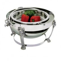 Eastern Tabletop 3708LH-SS Lion Head Round Rolltop Chafer 8 Qt.