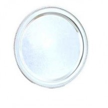 "Eastern Tabletop 4218 Silver 18"" Round Tray with Gadroon Border"
