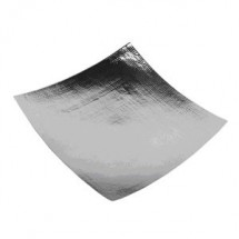 "Eastern Tabletop 4316H Silver 16"" x 16"" Square Edged Hammered Tray"