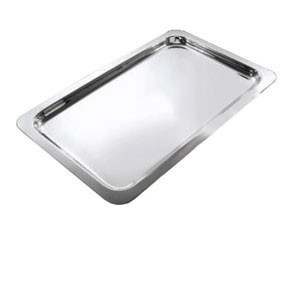 "Eastern Tabletop 4491 Silver Grandeur 21"" x 13"" Rectangular Tray"