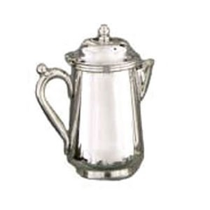 Eastern Tabletop 6372 Silver 10 oz. Covered Creamer