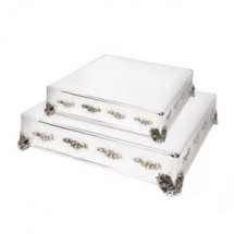 Eastern-Tabletop-8005L-Square-Silverplated-16--Decorative-Wedding-Cake-Riser-