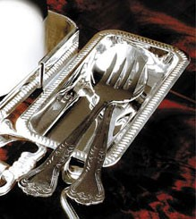 Eastern Tabletop 8502 Silverplated Utensil Holder