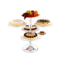 Eastern Tabletop 8755 Silver 3 Tier Dessert Buffet Display