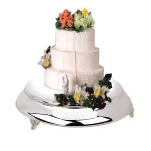 Eastern Tabletop 8852 Round Silverplated Wedding Cake Riser