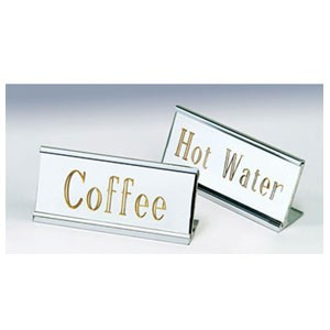 Eastern Tabletop 8900 Silver Coffee ID Stands