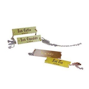 Eastern Tabletop 9542-Brass  Beverage ID Tags with Brass Plaque - 1/2 doz